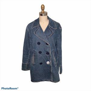 Ralph Lauren oversized denim field jacket coat